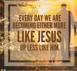 "Becoming A ""Watch-Worthy"" Christ Follower"