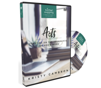 Verse Mapping Acts Video Study DVD by Kristy Cambron