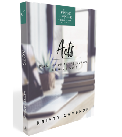 Verse Mapping Acts Study Guide by Kristy Cambron