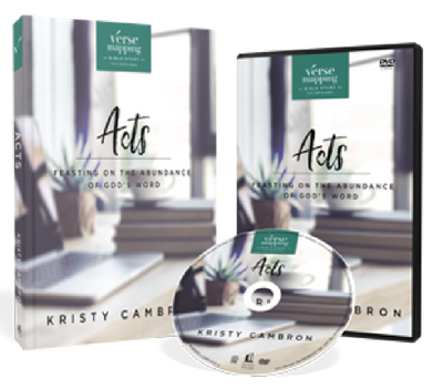 Verse Mapping Acts DVD and Study Guide Pack by Kristy Cambron
