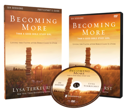 Becoming More Than a Good Bible Study Girl DVD and Study Guide Pack by Lysa TerKeurst