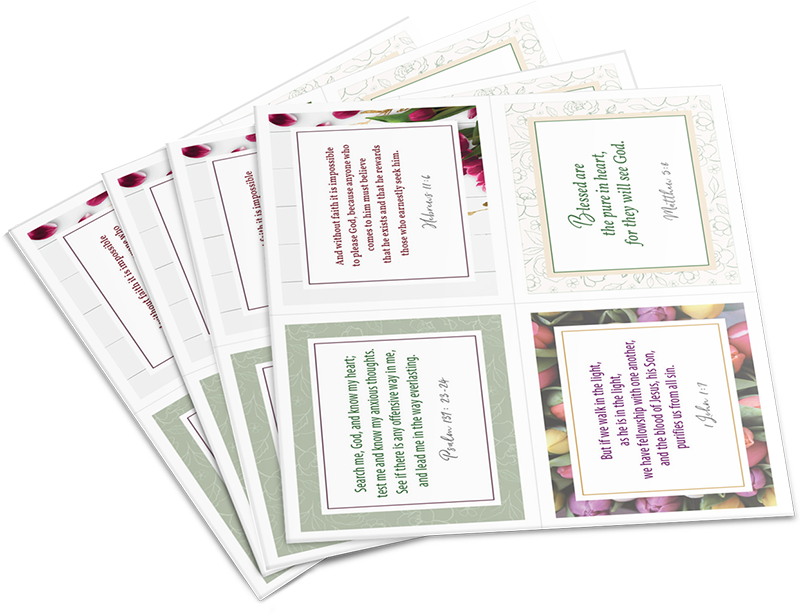 It is an image of Printable Scripture Cards in labor