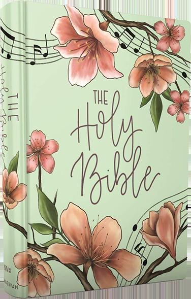 NIV, Artisan Collection Bible, Cloth over Board, Teal Floral, Designed Edges under Gilding, Red Letter Edition, Comfort Print