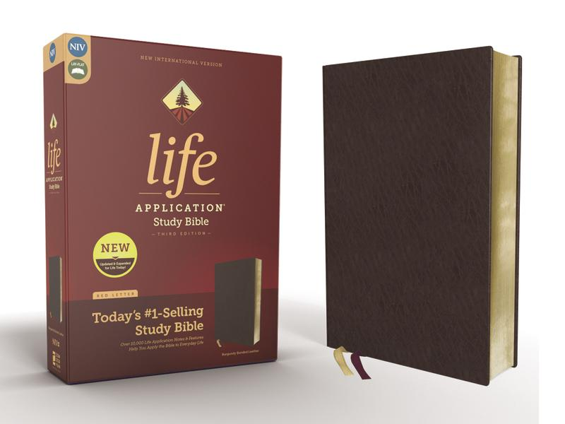 NIV, Life Application Study Bible, Third Edition, Bonded Leather, Burgundy, Red Letter Edition