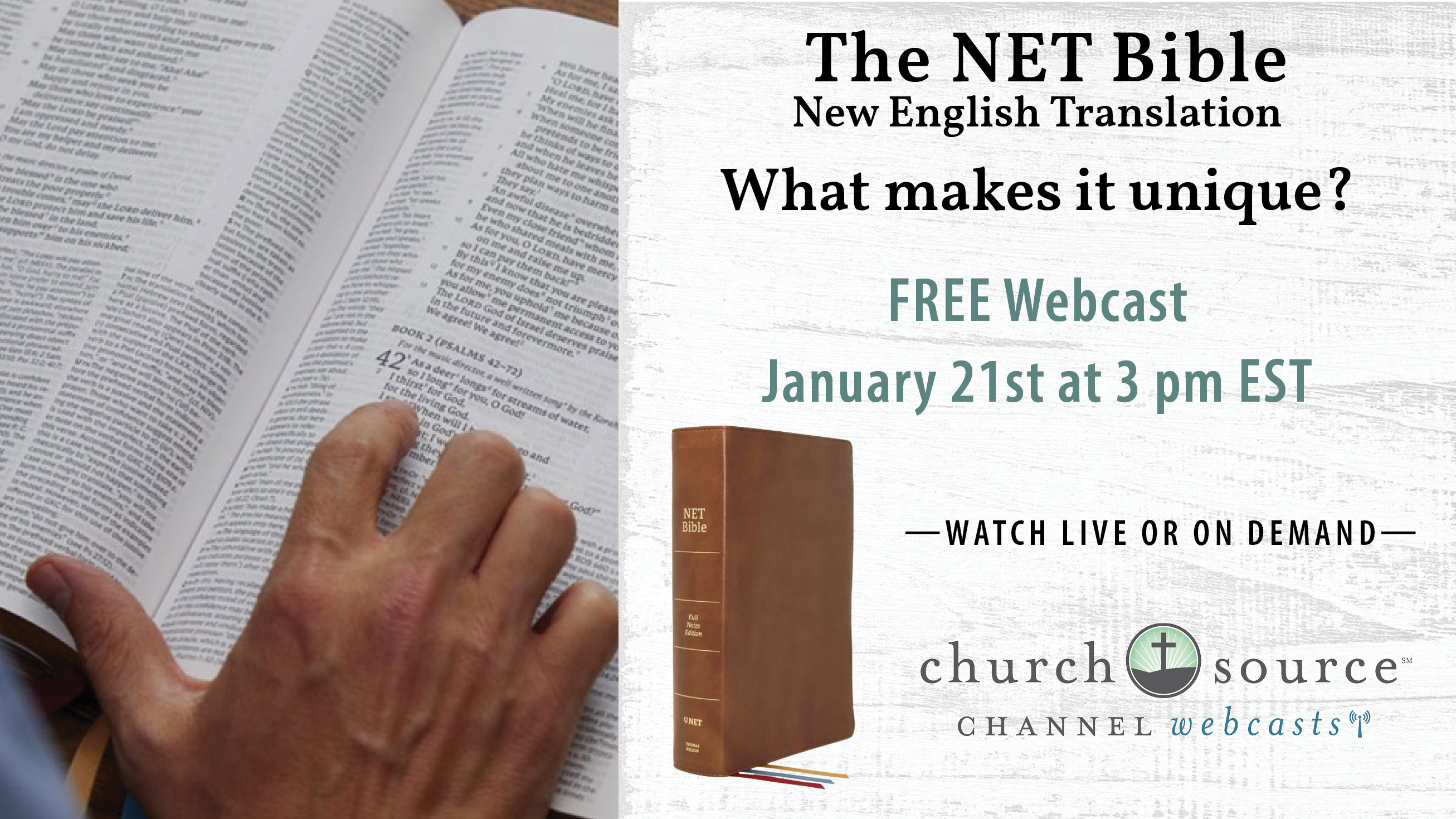 The New English Translation (NET) Bible: What makes it unique? - Webcast with Dr. W. Hall Harris